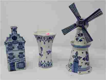 Delft Decanters and Vase