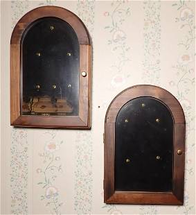 2 Pocket Watch Wall Cases