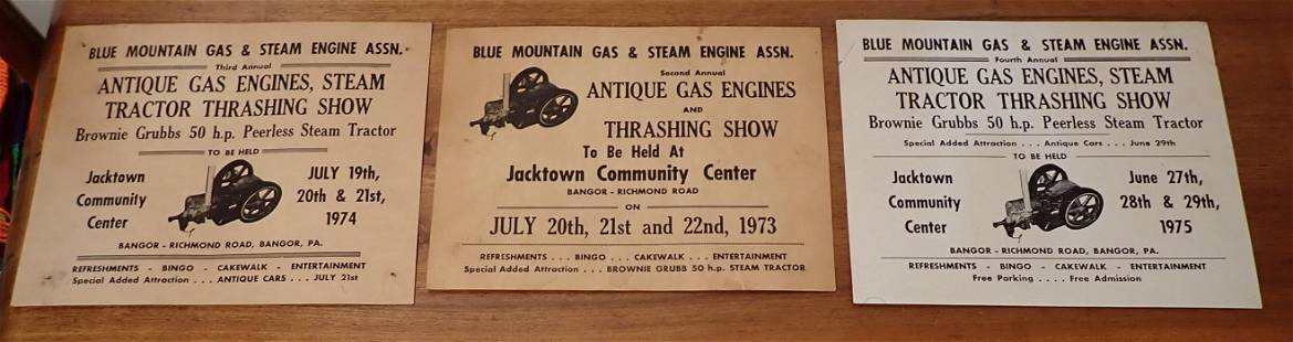 1970's Blue Mountain Gas & Steam Engine Posters