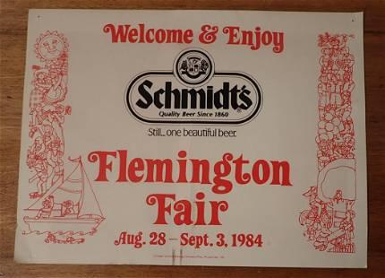 1984 Schmidts Flemington Fair Poster