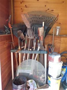Garden Tools Aluminim Extension Ladder & Misc
