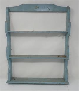 Blue Painted Shelf