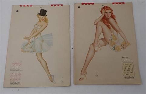 1940's Varga Pin Up Girl Calendars