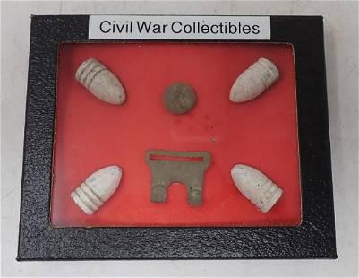 Civil War Bullets Button & Buckle