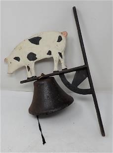 Cast Iron Pig Bell
