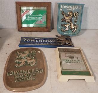 Lowenbrau Heineken Beer Signs