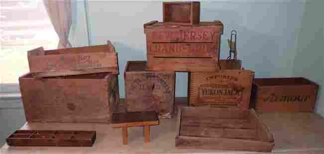 Wood Crates incl Texas Co