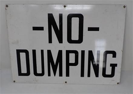 Metal NO DUMPING Sign
