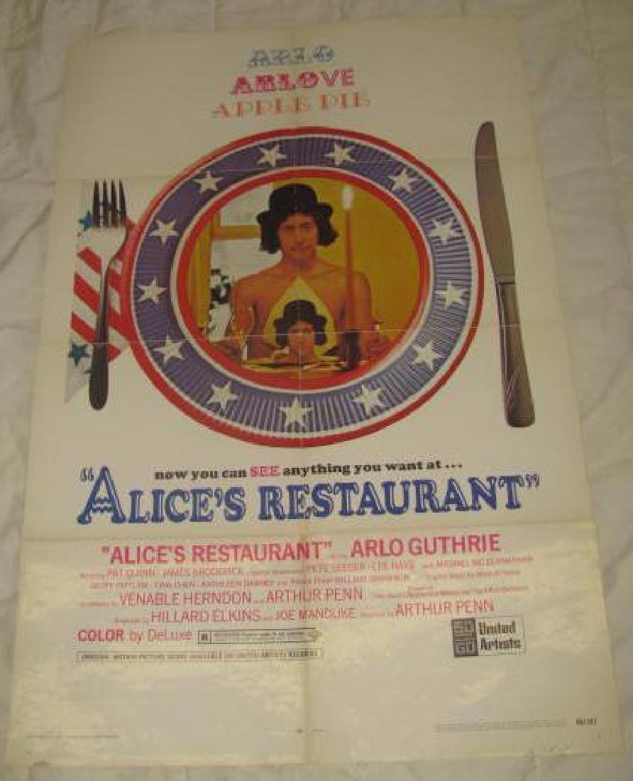 ALICE'S RESTAURANT ARLO GUTHRIE MOVIE POSTER