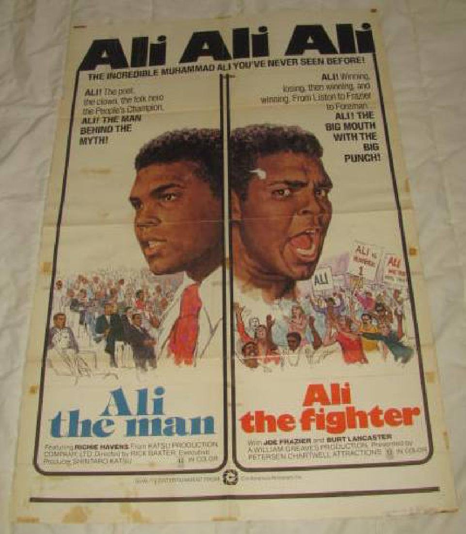 MUHAMMAD ALI MOVIE POSTER THE MAN THE FIGHTER