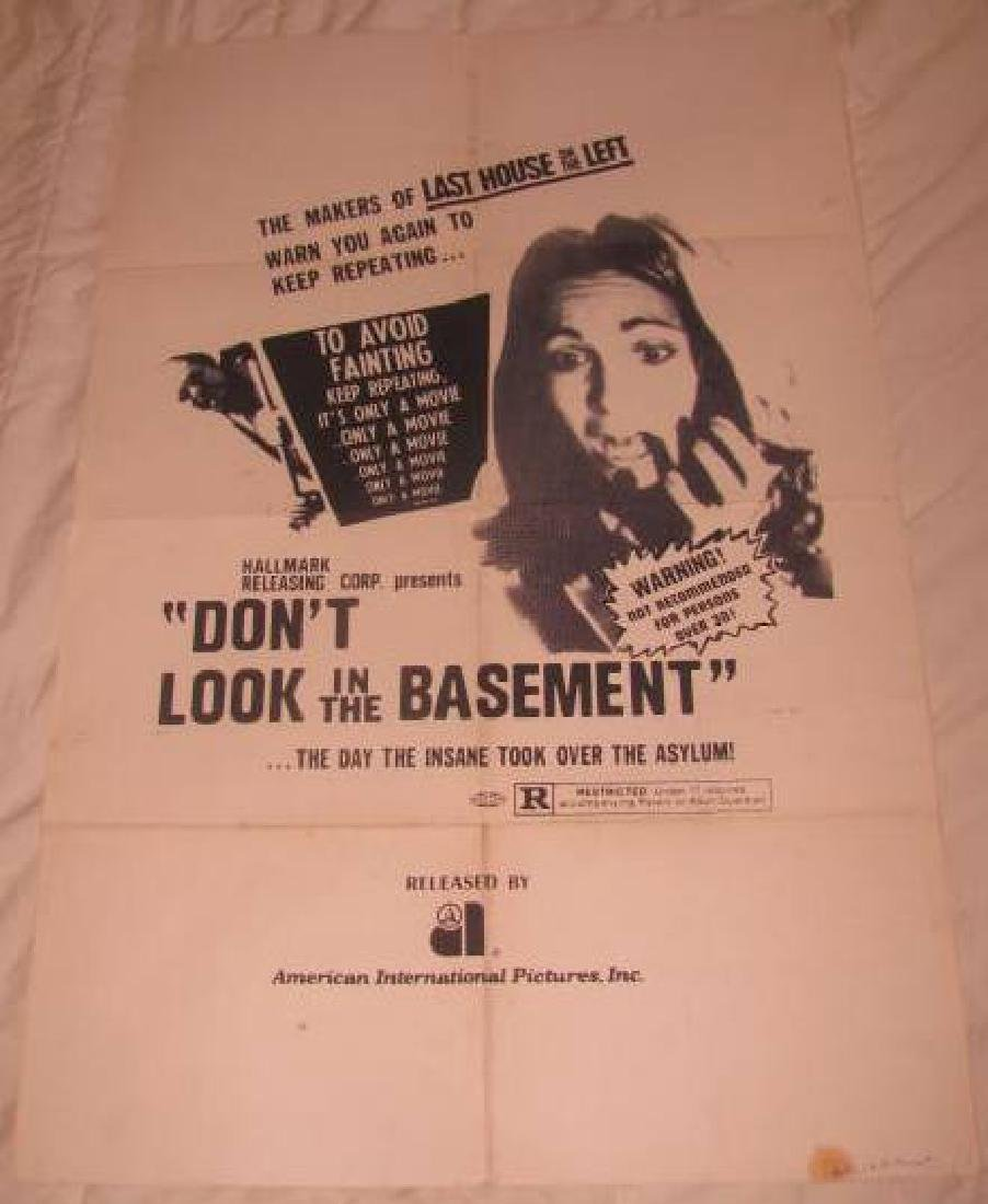 DON'T LOOK IN THE BASEMENT MOVIE POSTER