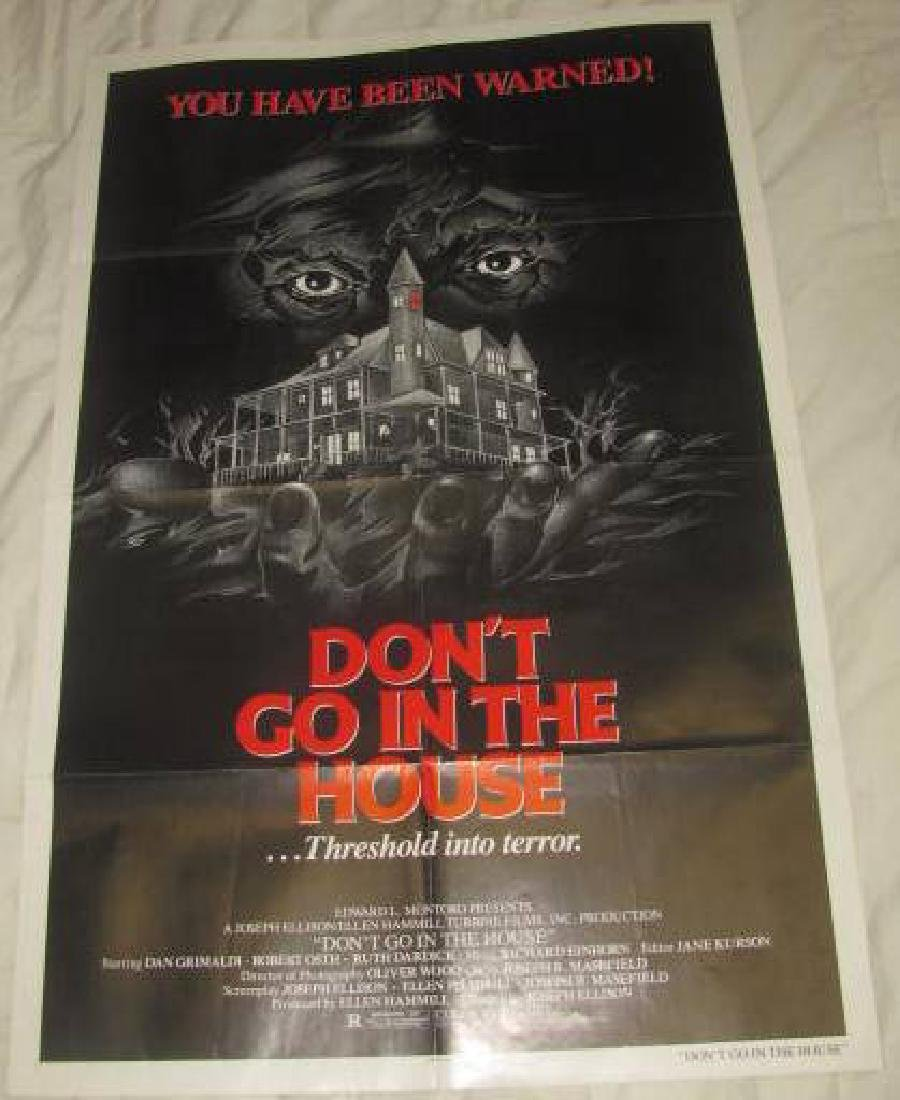 DON'T GO IN THE HOUSE DAN GRIMALDI POSTER