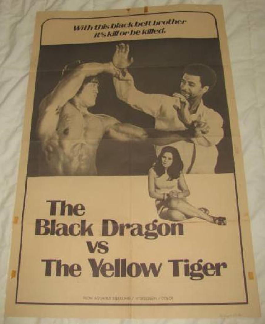 THE BLACK DRAGON vs THE YELLOW TIGER POSTER