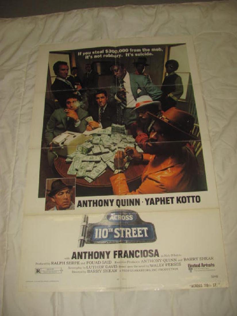 ACROSS 110TH STREET MOB MOVIE POSTER