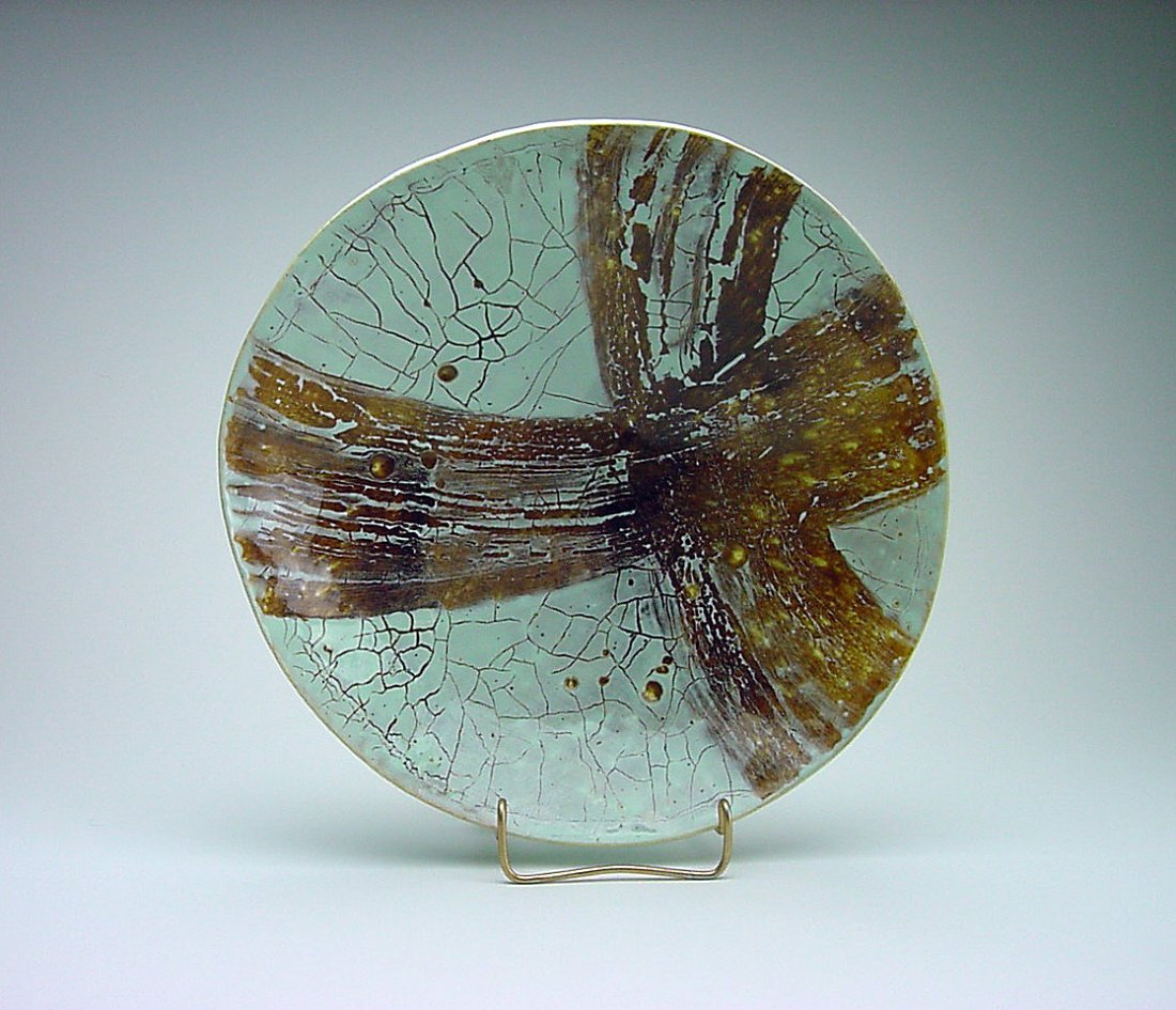 Jo Robinson (1932-) Curdled Glaze Bowl Fallon Nevada