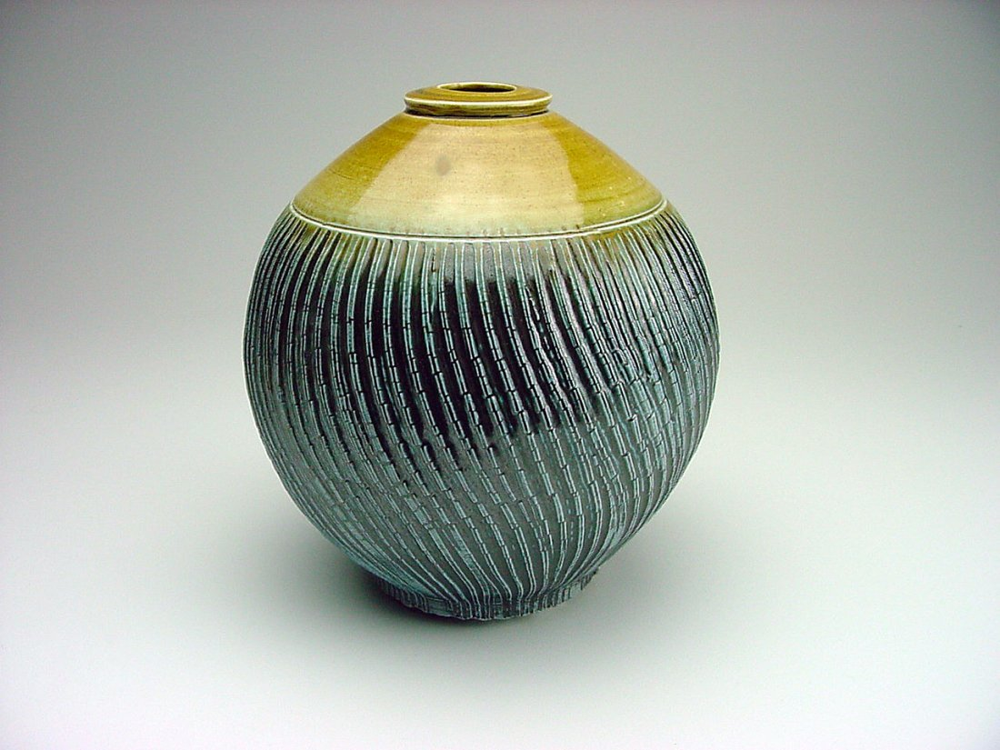 Ian Stainton (1958-) Salt Fired Vase Pennsylvania