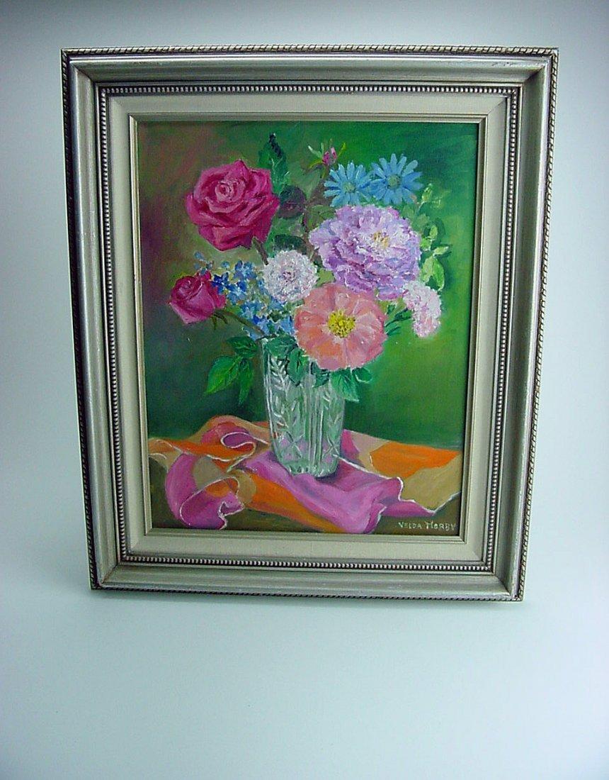 Velda Morby (1908-2008) Still Life Painting Reno Nevada