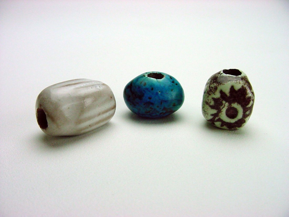 Doyle Lane Pottery Beads lot (3) Los Angeles California