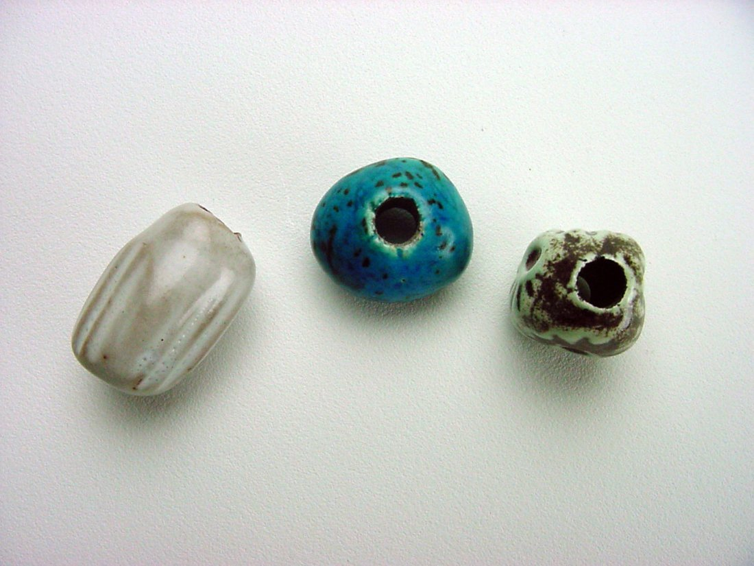 Doyle Lane Pottery Beads lot (3) Los Angeles California - 2