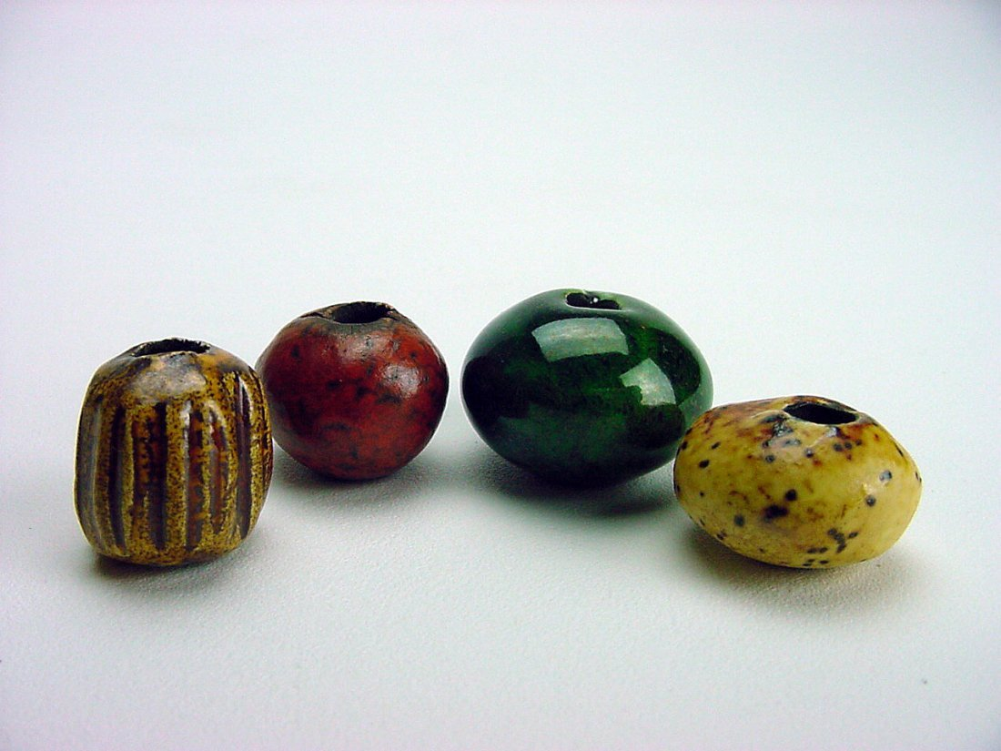 Doyle Lane Pottery Beads lot (4) Los Angeles California - 2