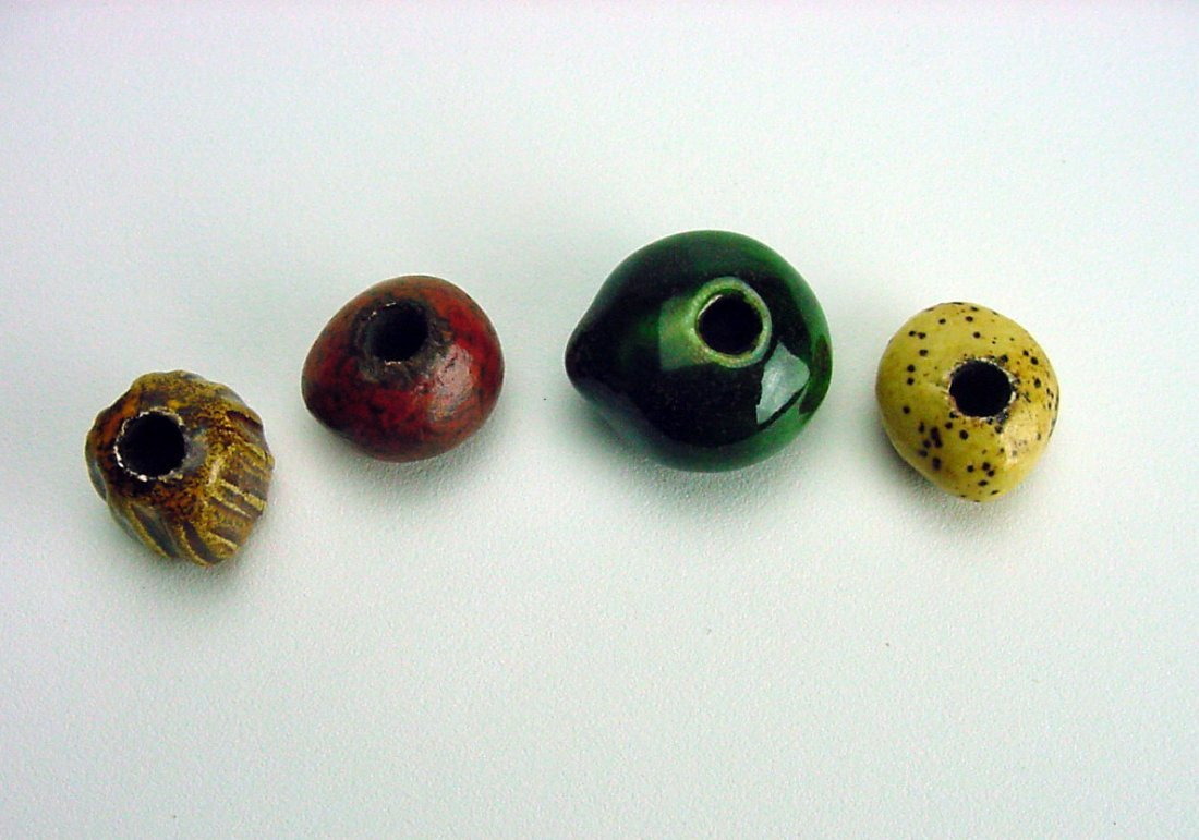 Doyle Lane Pottery Beads lot (4) Los Angeles California - 3
