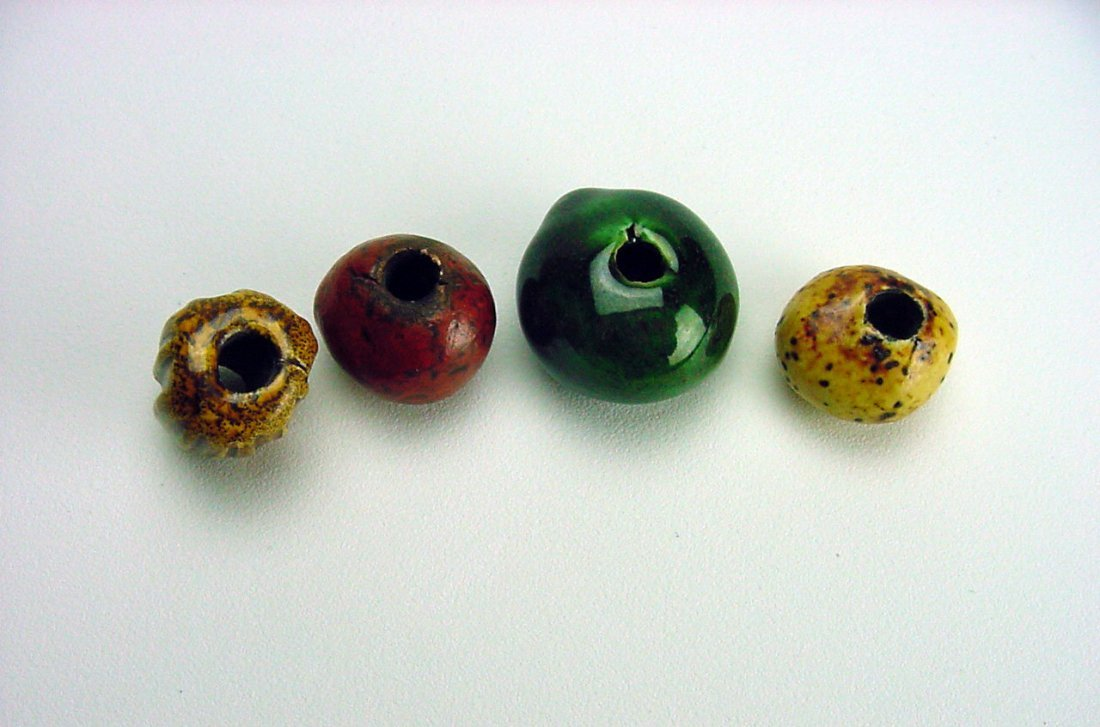 Doyle Lane Pottery Beads lot (4) Los Angeles California - 4