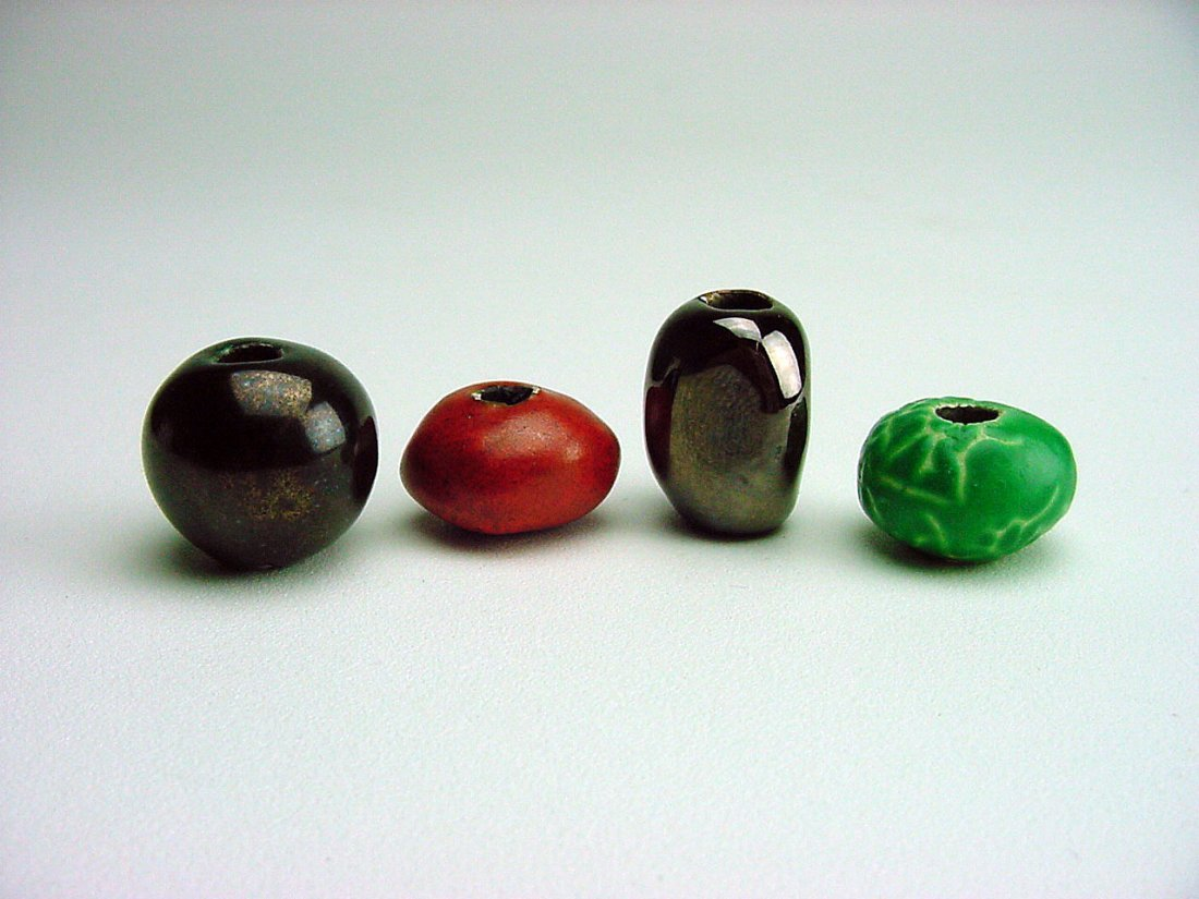 Doyle Lane Pottery Beads lot (4) Los Angeles California