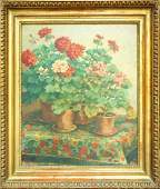 Englerth Emil (1882- ?): Still life with geraniums