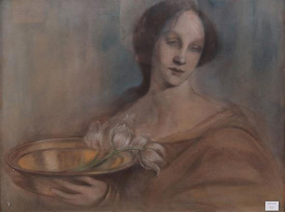 Linda Kogel 1861-1940 (German) Woman with bowl of