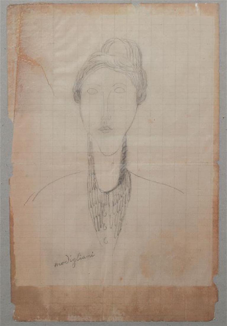 Amedeo Modigliani 1884-1920 (Italian) Portrait de femme