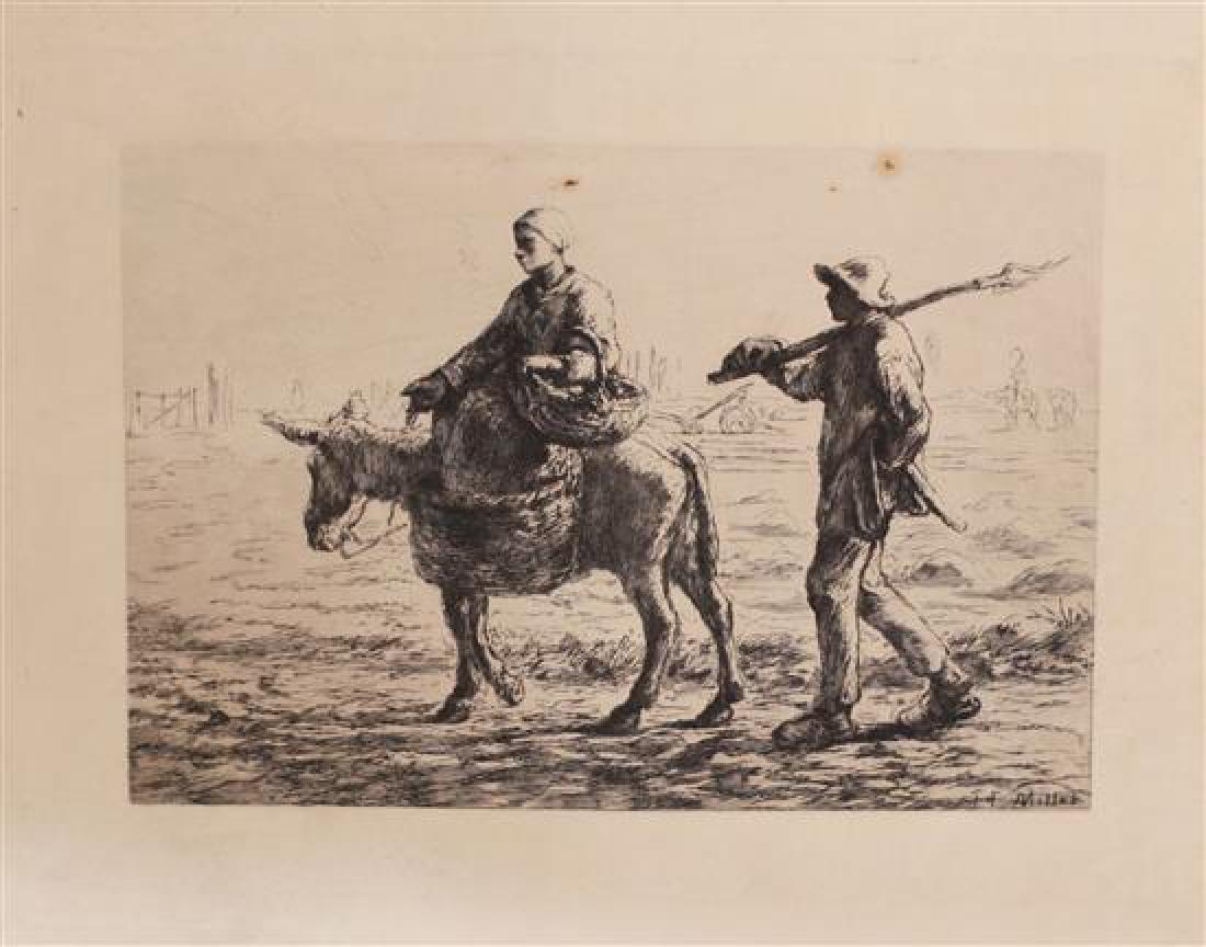 Jean Francois Millet 1814-1875 (French) Morning: going