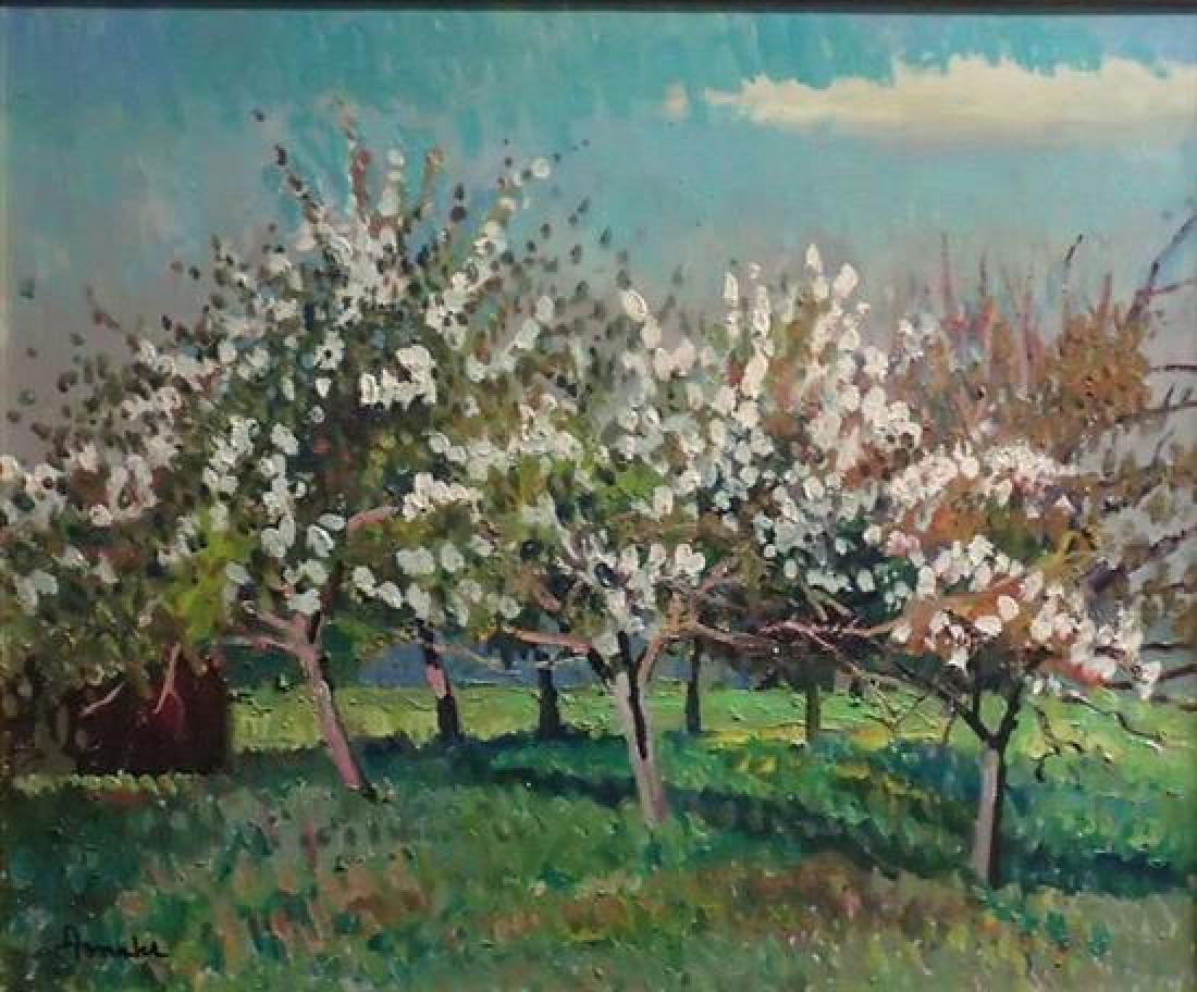 **Albert Malet 1902-1986 (French) Garden in bloom oil