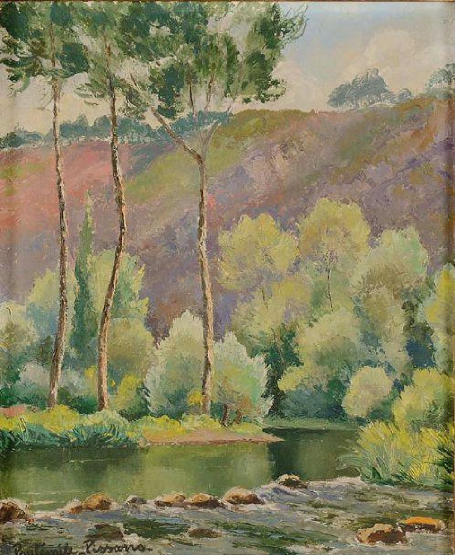 **Paul-Emile Pissarro 1884-1972 (French) Landscape oil