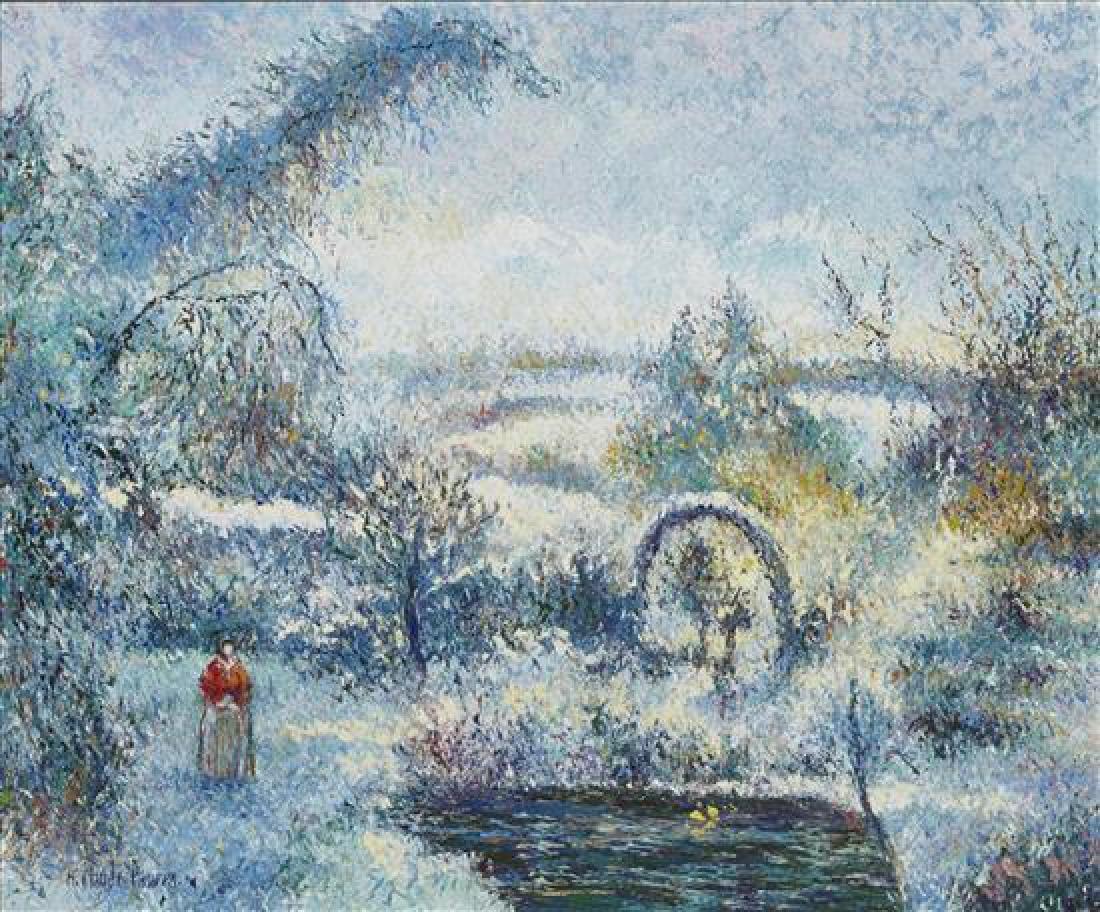 **Hugues Claude Pissarro b.1935 (French) Garden under