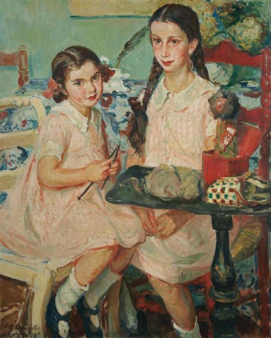 **Jacques-Emile Blanche 1861-1942 (French) Two girls,