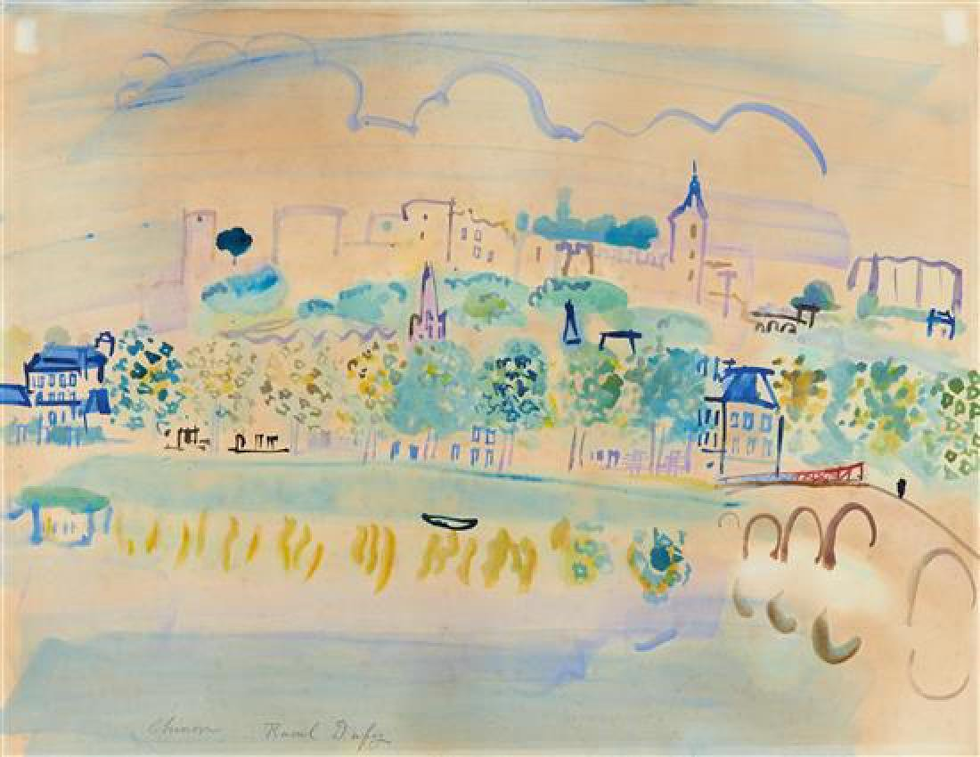 **Raoul Dufy 1877-1953 (French) Chinon (Quinone), 1938
