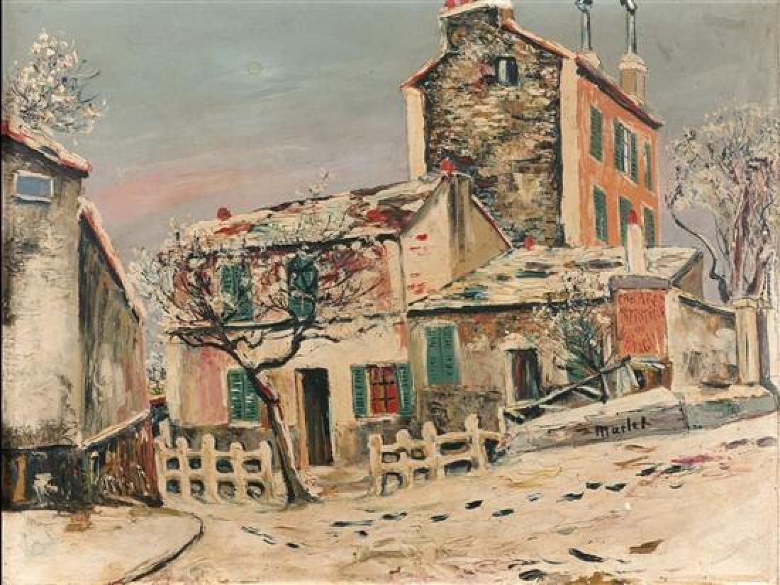 **Elisee Maclet 1881-1962 (French) Winter street scene