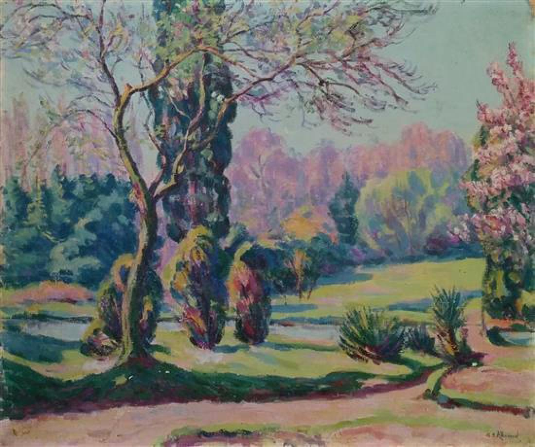 **Eugene Alluaud 1866-1947 (French) Spring landscape