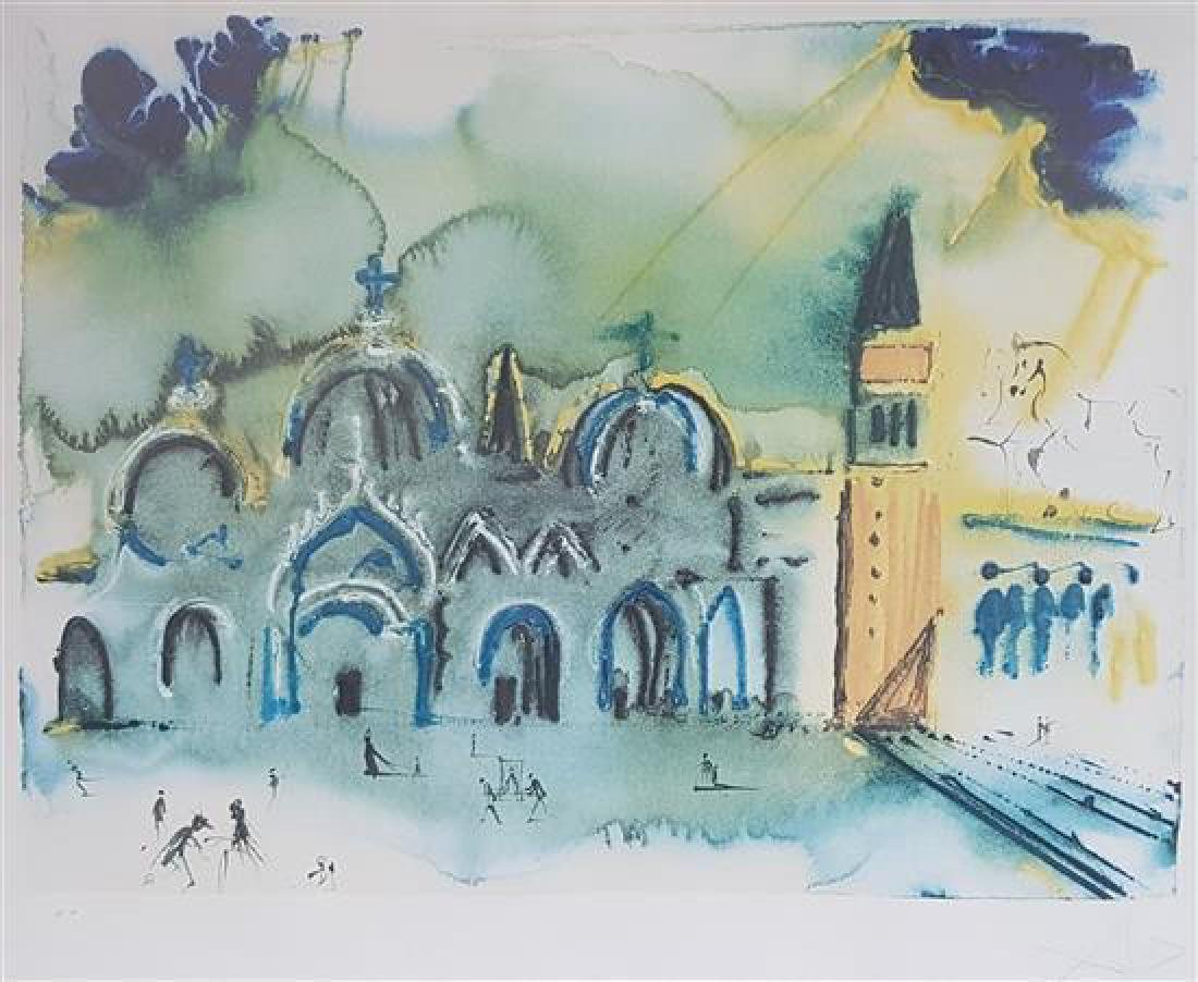 Salvador Dali 1904-1989 (Spanish) Homage to Venice,