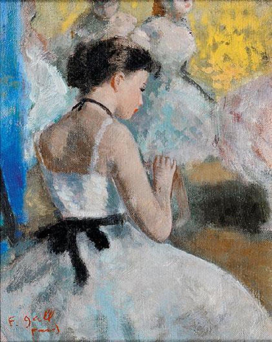 **Francois Gall 1912-1987 (French) Ballerinas oil on