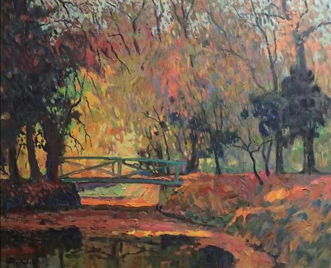 **Albert Malet 1902-1986 (French) Bridge in the autumn