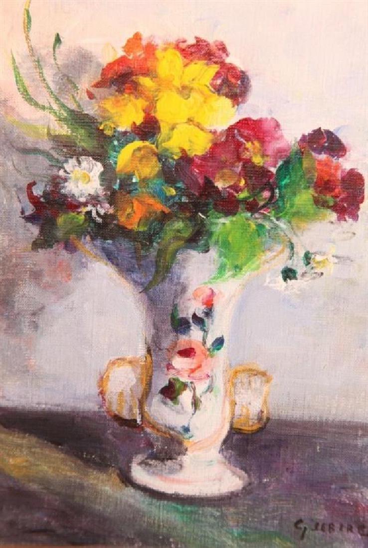 **Gaston Sebire 1920-2001 (French) Flower bouquet oil