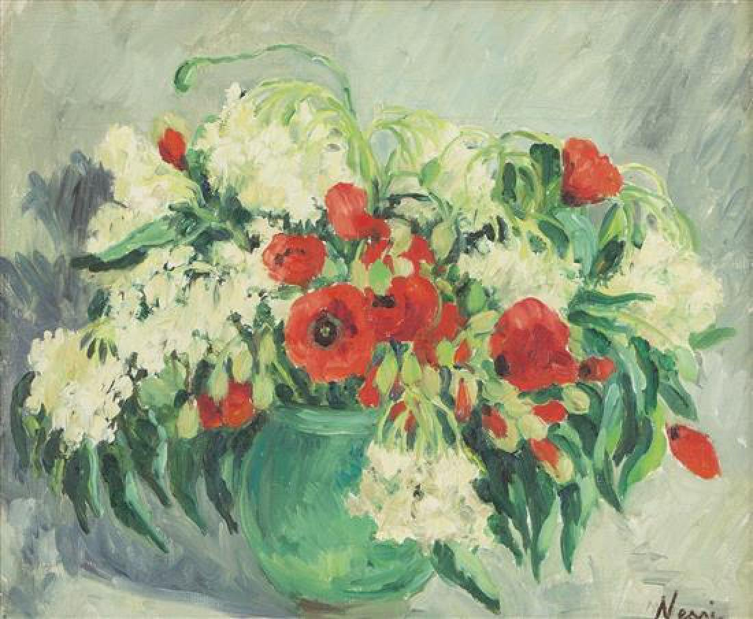 **Marie-Lucie Nessi-Valtat 1900-1992 (French) Poppies