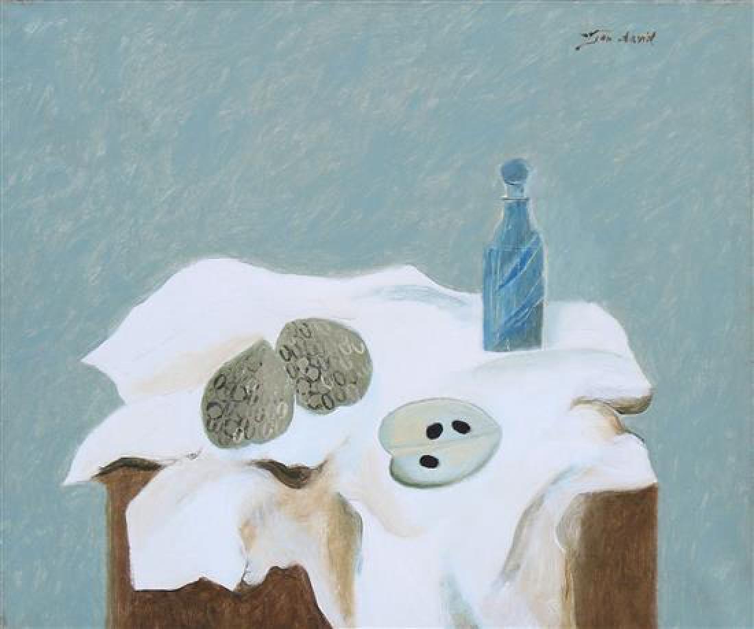 **Jean David 1908-1993 (Israeli) Still life with blue