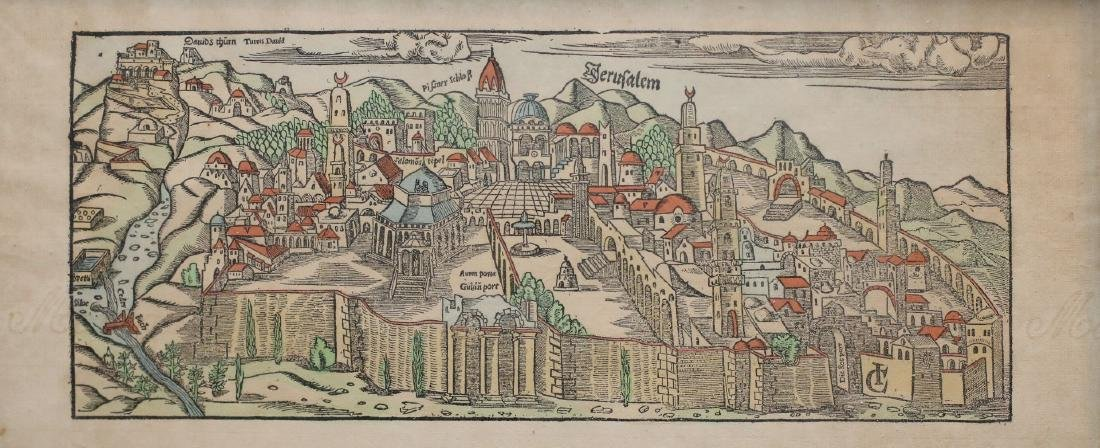 Old map of Jerusalem print 2046 Other Notes: Location: