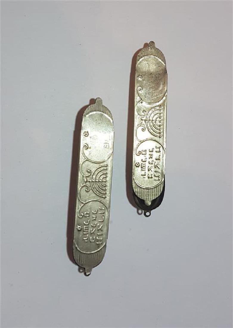 2 Mezuzah home silver Bezalel, Jerusalem , 1950's - 3