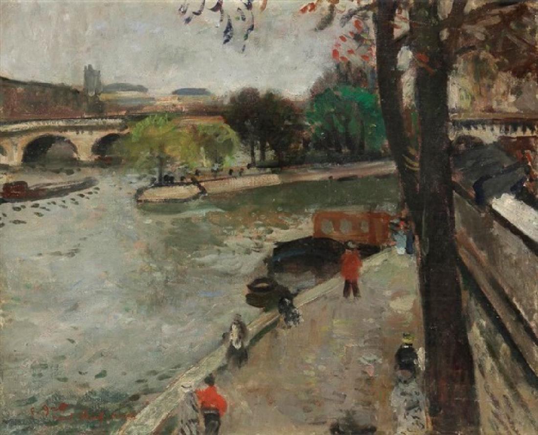 Francois Gall 1912-1987 (French) le Pont Neuf , Paris