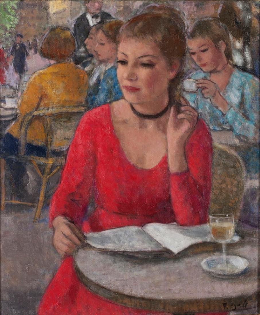 Francois Gall 1912-1987 (French) Eugenie en rouge,