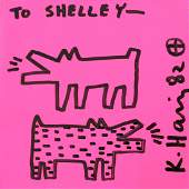 Keith Haring 1958-1990 (American) Two barking dogs,