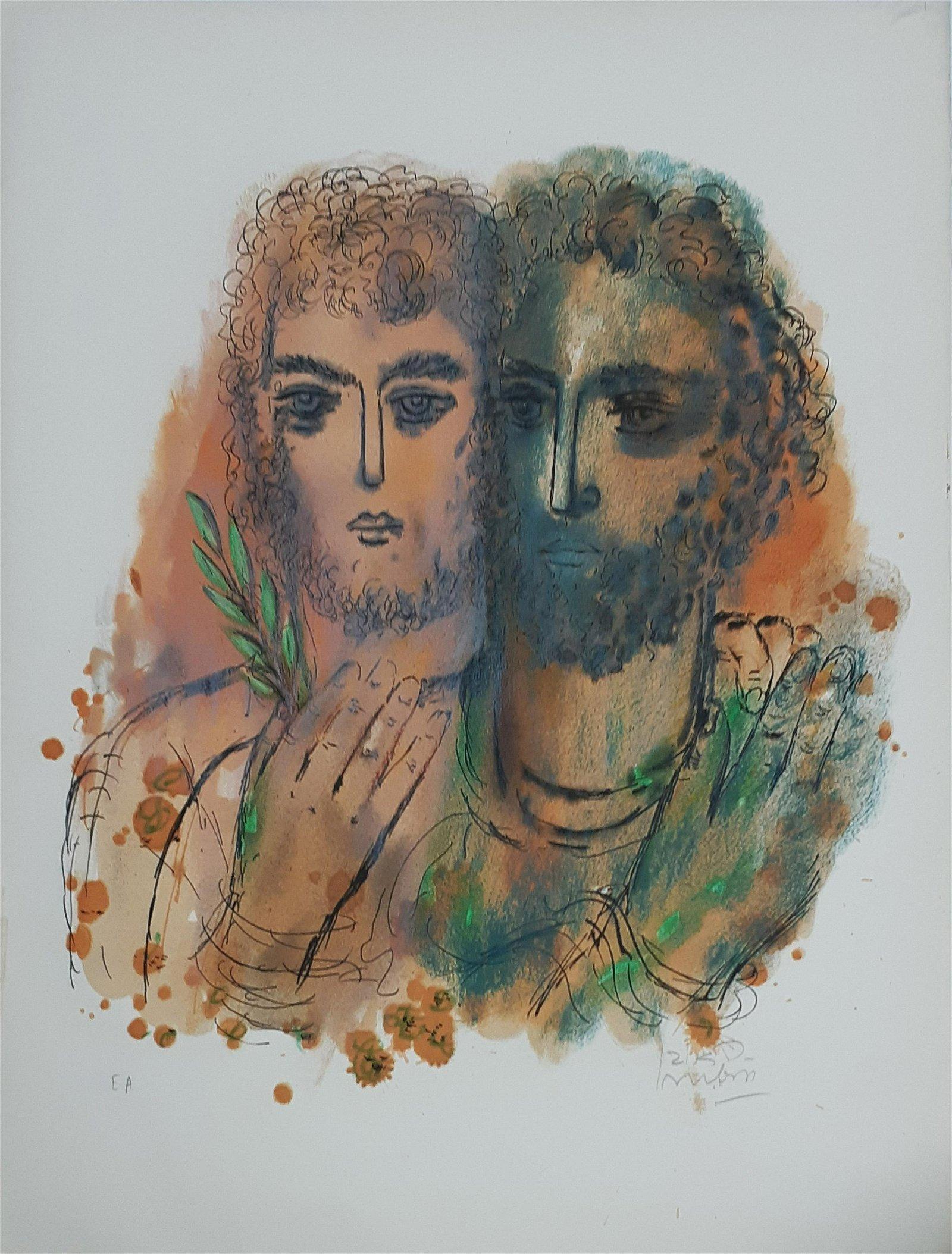 Reuven Rubin 1893-1974 (Israeli) David and Jonathan